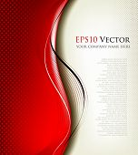3D red background composition - vector illustration