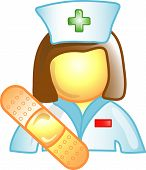 Nurse Career Icon Or Symbol