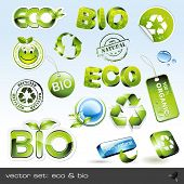 vector set: eco & bio - 16 items