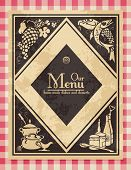 Vintage menu or cover for a cookbook - grunge is removable