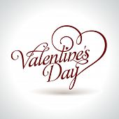 stock photo of san valentine  - calligraphic Valentine - JPG