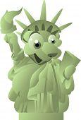 estatua de vector de la libertad