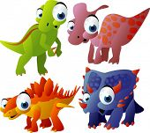 vector baby dinosaurs set 4