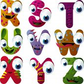 vector monster alphabet
