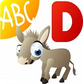 animal alphabet: Dis for Donkey