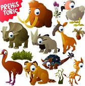 foto of prehistoric animal  - vector prehistoric animals - JPG