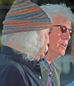 Graham Nash with David Crosby at Liberty Park