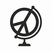Peace Symbol, Global Peace. Vector Icon Isolated On White Background. poster
