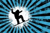 Snowboarder background