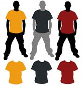 foto of t-shirt red  - Vector T - JPG