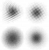 Vector halftone circle