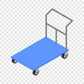 Load Cart Icon. Isometric Of Load Cart Vector Icon For On Transparent Background poster