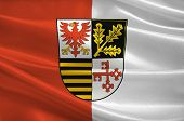 Flag Of Potsdam-mittelmark Is A District In The Western Part Of Brandenburg, Germany. 3d Illustratio poster