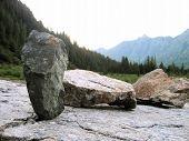 Mini Stones Against Mountains