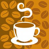 Cup of coffee with abstract background