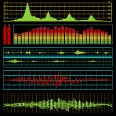 picture of waveform  - Music waves and audio equalizer background - JPG