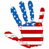 abstract hand united states flag