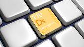 Keyboard (detail) With Darmstadium Element