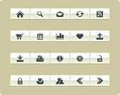 VECTOR Internet & Web icon set | Khaki series