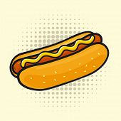 stock photo of hot dogs  - Delicious hot dog - JPG
