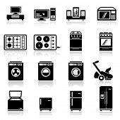 Icons set aparatos