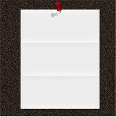 Note Paper On Cork Board. Vector Illustration. Best Choice