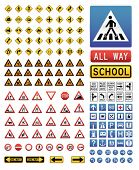 foto of traffic sign  - Big collection of vector traffic sign icons - JPG