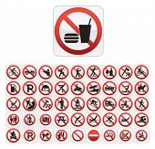 Forbidden Actions Icon Series