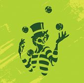 image of mummer  - Clown Illustration Series - JPG