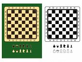 chessboards and chessmen symbols, very easy to edit and to rearrange