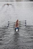 BOSTON - OCTOBER 23: Everett Rowing youth men's Eights races