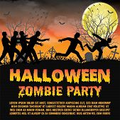 A Halloween Zombie Party With Zombies Escape poster