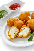 cauliflower pakora , indian fritter cuisine