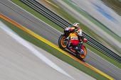 VALENCIA, SPAIN - NOVEMBER 9: Dani Pedrosa in the official motogp test with new 1.000cc engines, Ric