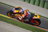 VALENCIA, SPAIN - NOVEMBER 9: Casey Stoner in the official motogp test with new 1.000cc engines, Ric