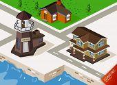 Lighthouse Isometric