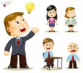 Solution. Business People Vector