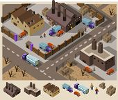 stock photo of earth structure  - Factory area - JPG
