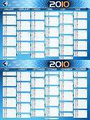 2010 blue planning calendar