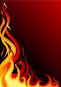 Illustratie van brand