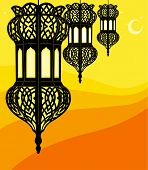 Illustration of stylish ramadan lantern