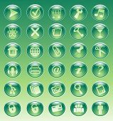 simple vector set of glass button icons