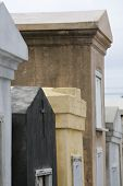 picture of burial-vault  - Old tombs in an historic New Orleans cemetary - JPG
