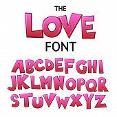 Bright Cartoon Colorful Comic Graffiti Doodle Kids Font, Love Alphabet. Vector Illustration poster