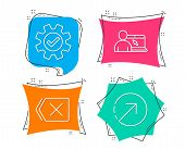 Set Of Online Education, Service And Remove Icons. Direction Sign. Internet Lectures, Cogwheel Gear, poster