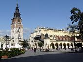 City Hall Tower And Cloth Hall In Krakow In Poland