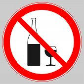 Zone Free From Alcohol, Alcohol Free Area, No Alcohol Permitted, No Alcohol Beyond This Point poster