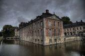 Castle And Park Of Beloeil In Belgium