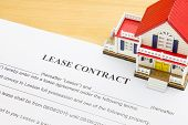 Home Lease Contract Or House Lease Contract Agreement. Concept About Home Or House Rental Agreement poster