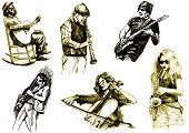 drawing of different musicians